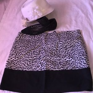 Cheeta stretch skirt above knee